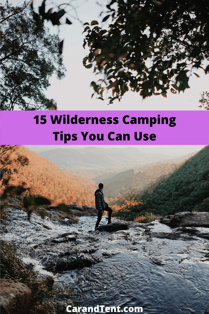 15 wilderness camping tips pin