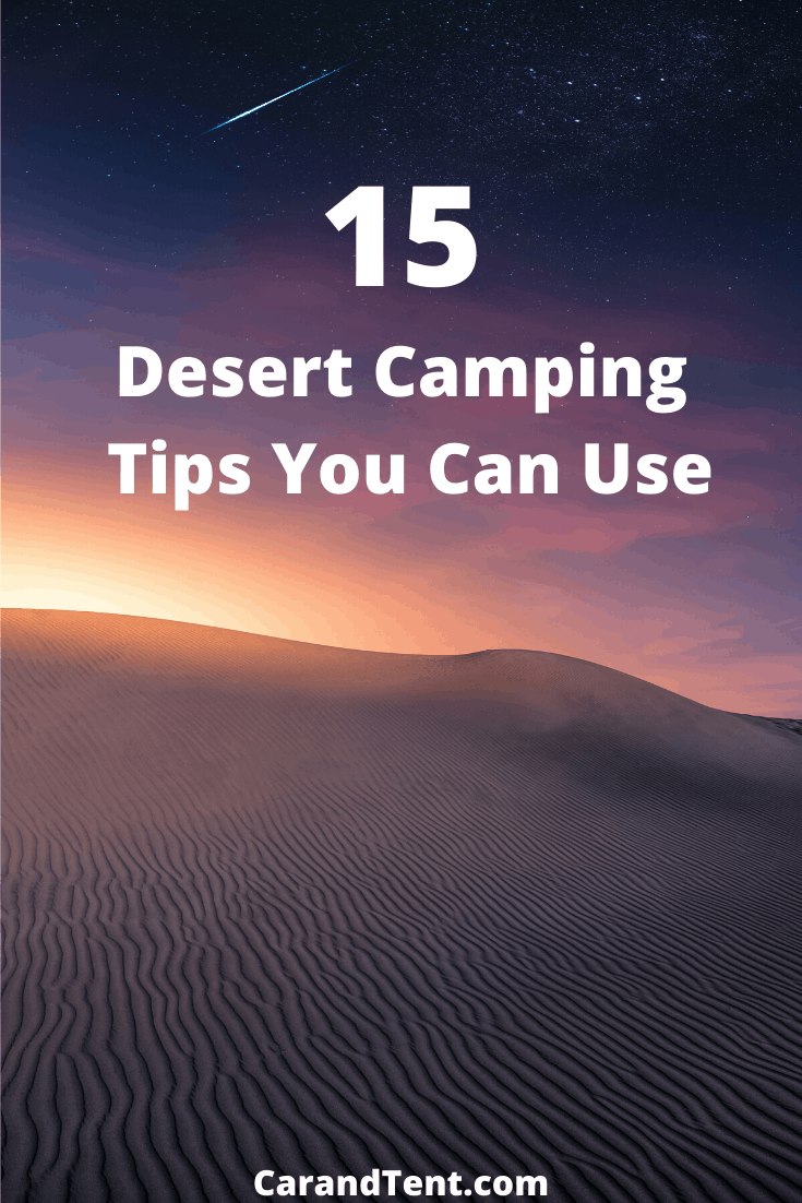 How to Camp In The Desert pin