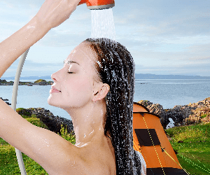 how to shower when camping