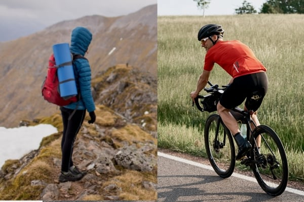 hiking vs cycling