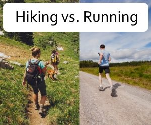 hiking vs running feature