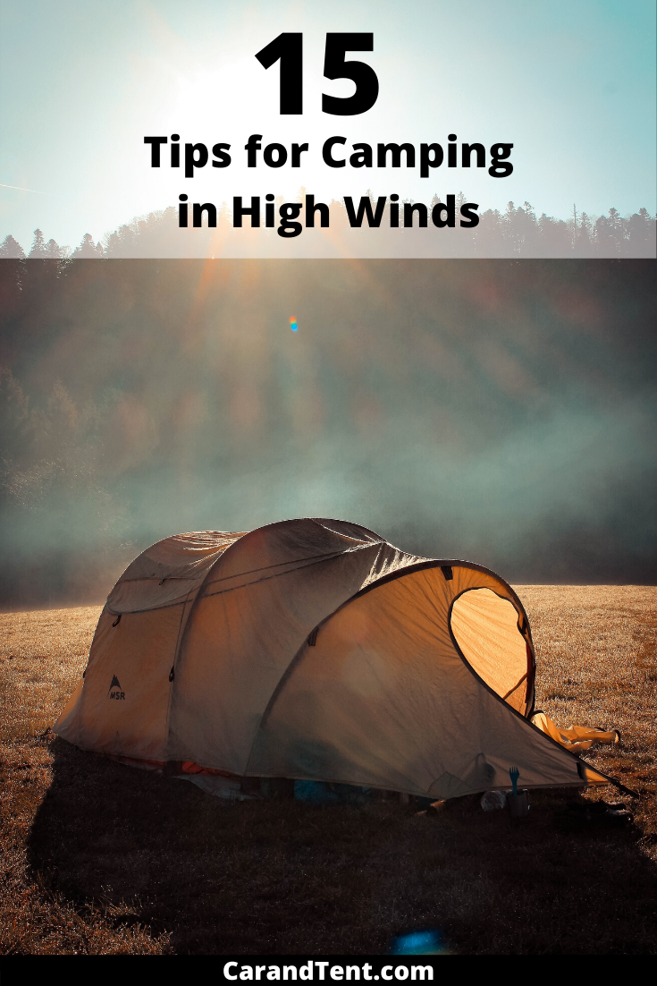 tips for camping in high winds pin2