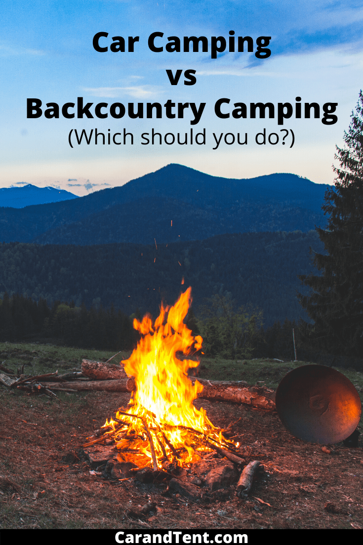 car camping vs backcountry camping pin3