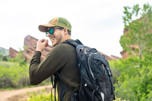 backpacker with bivy